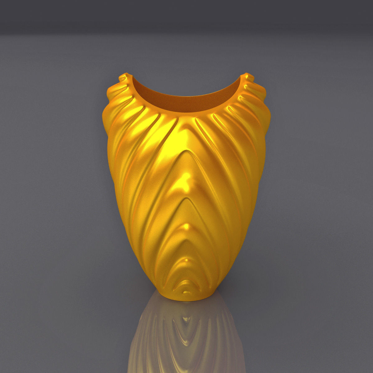 Wavy Pattern Vase Design 3D Print Model