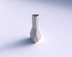 3d printable model vase puffy triangle with triangle plates