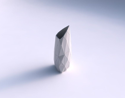 3d printable model vase tipped triangle with triangle plates