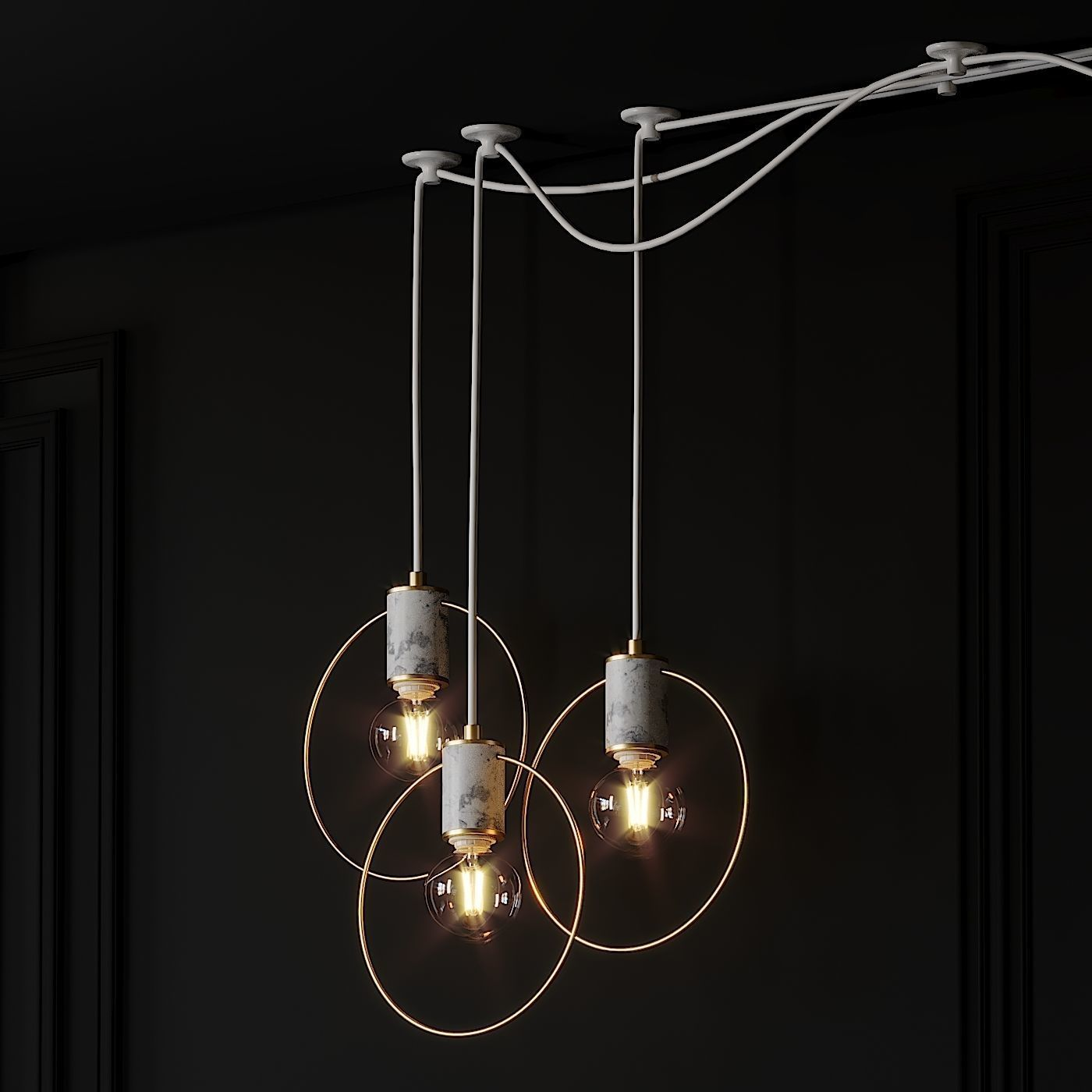 3d 1 Light Single Geometric Pendant Cgtrader