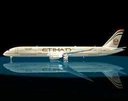 3d etihad  787-9 dreamliner