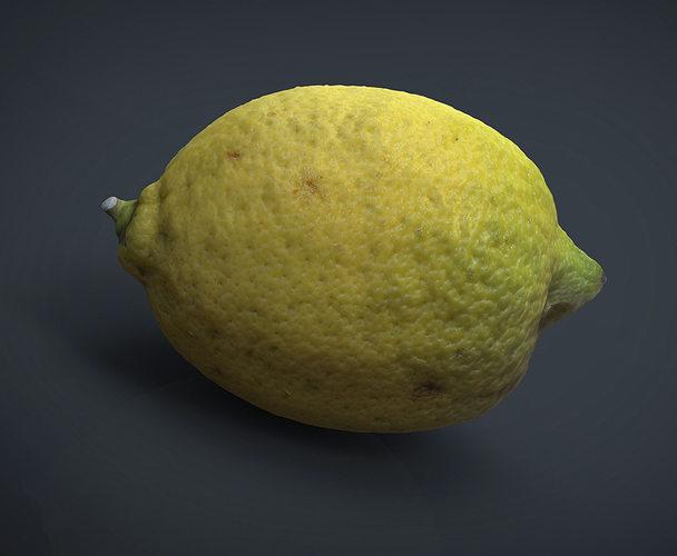 lemon 3d model obj mtl fbx ma mb 1