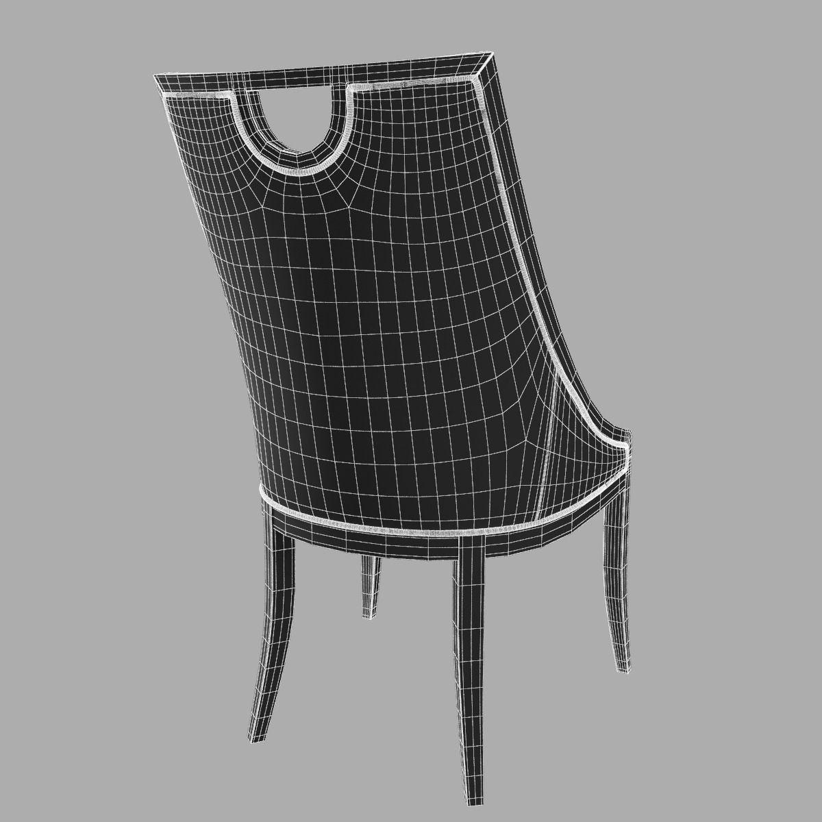 cavio artdeco line chair 3d model max 6 art deco furniture lines