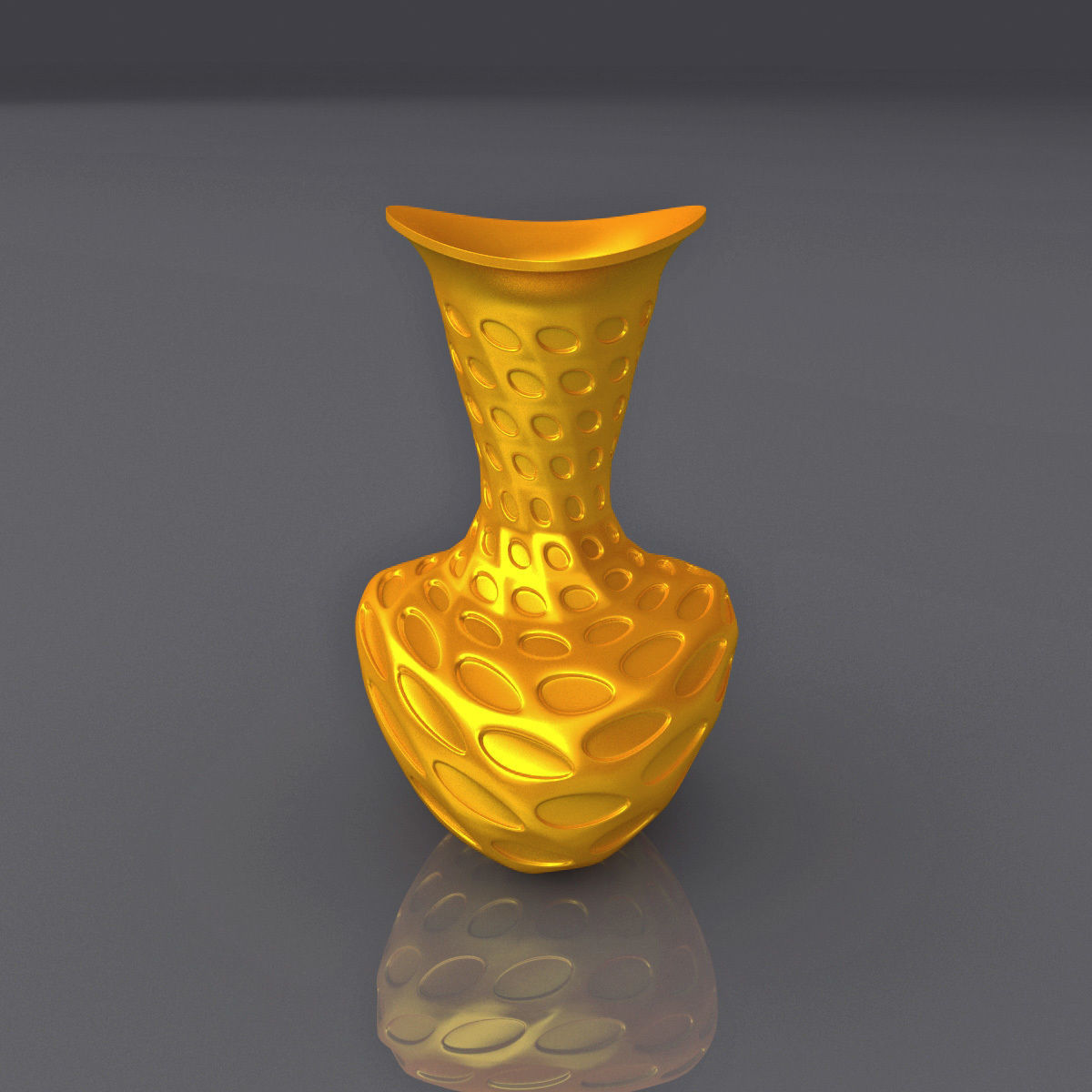 Perforated Surface Vase Design 3D Print Model