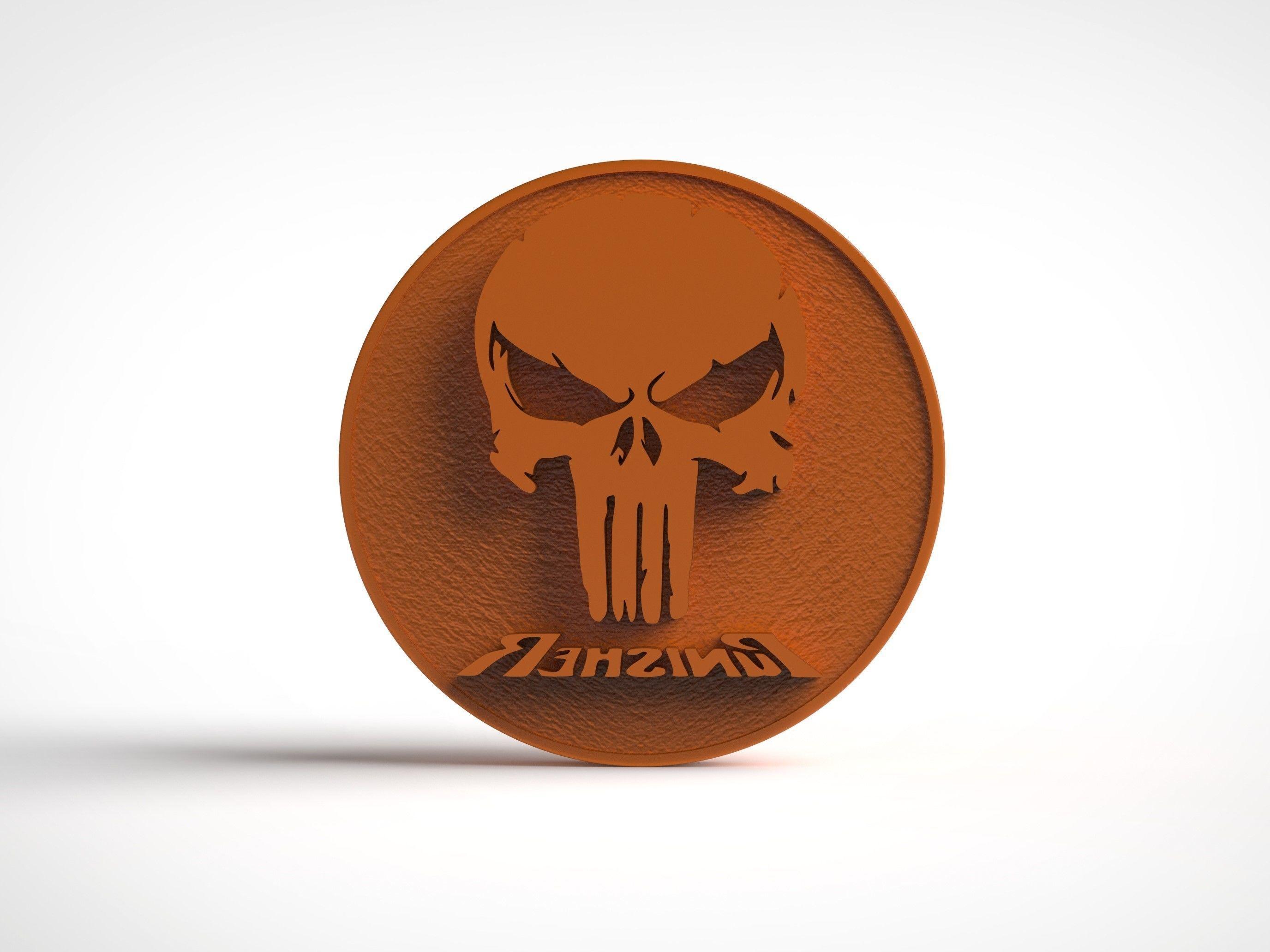 The Punisher  Logo Stamp