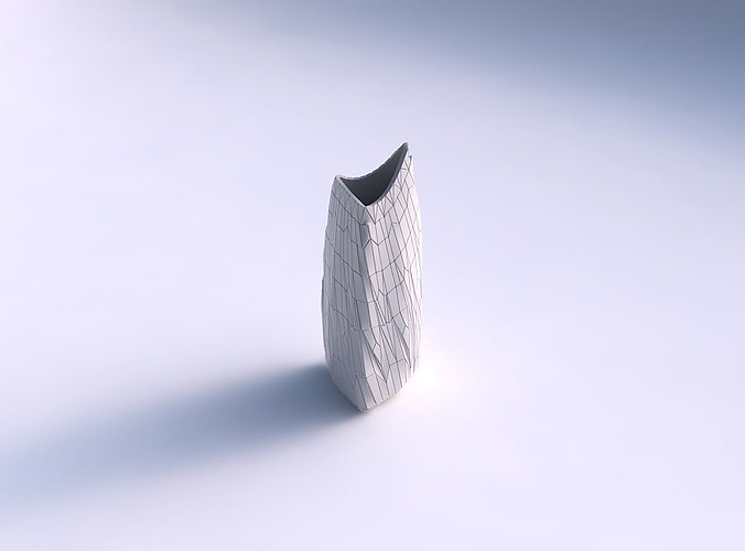 Vase curved tipping triangle 2 with chaotic plates