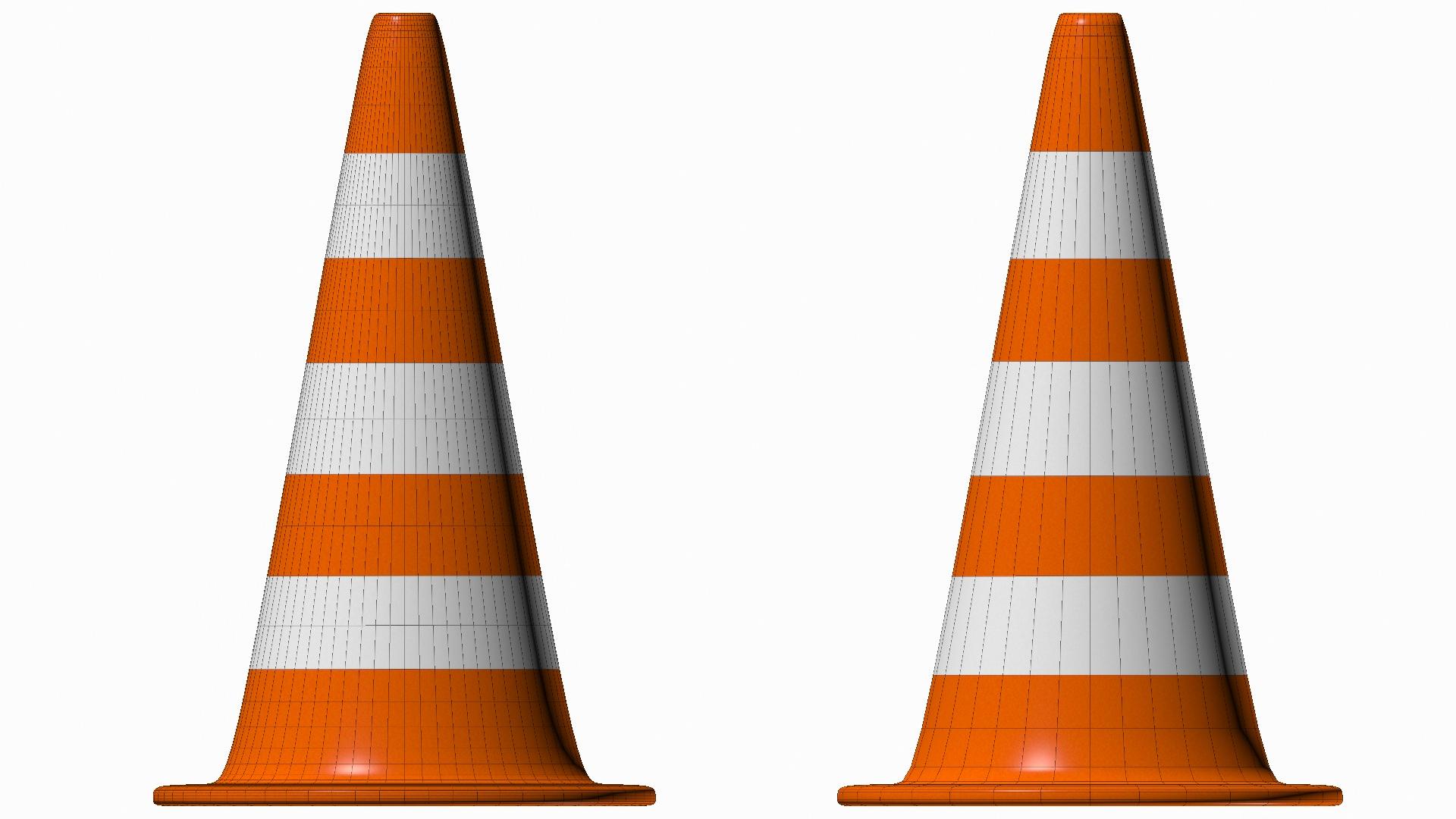 Traffic Cone 3D Model .max .obj .3ds .fbx .dxf .dwg ...
