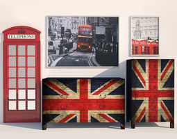 Set London Kare Design 3D Model