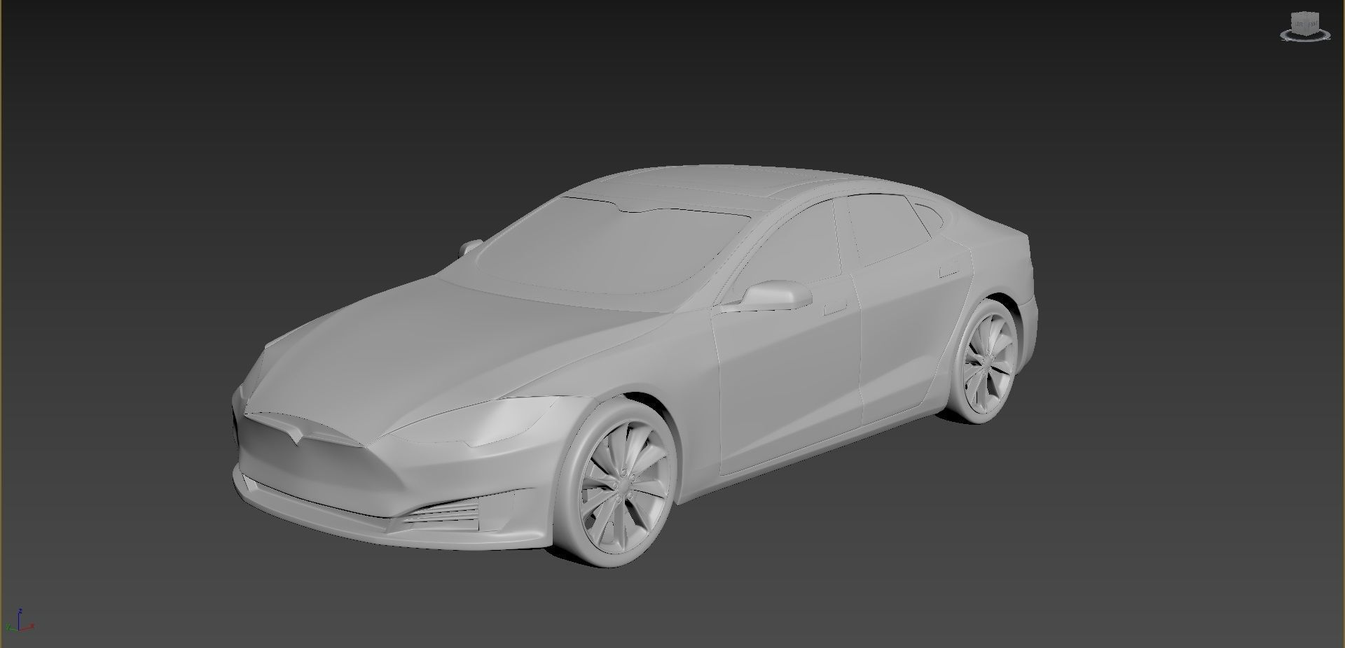 Tesla Model S on a small scale