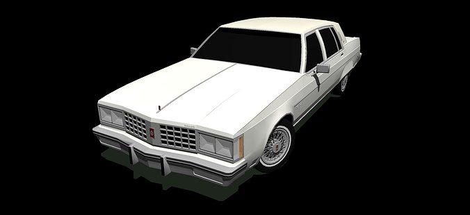 1980 oldsmobile ninety-eight regency 3d model 3ds 1