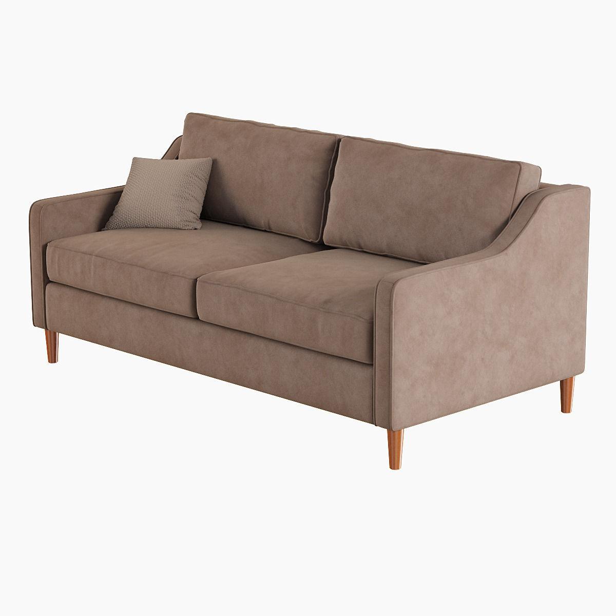 West elm paidge sofa 3d model max obj fbx for Elm furniture