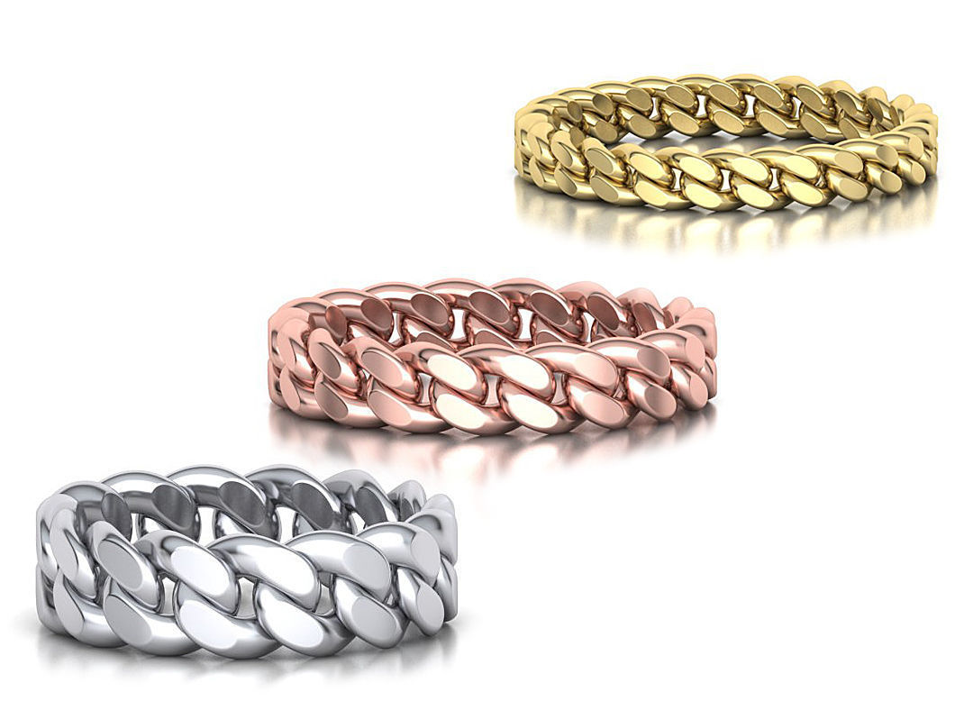 Cuban Ring Chain ring collection with discount