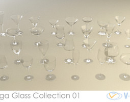 Mega Glass Collection 01 3D model