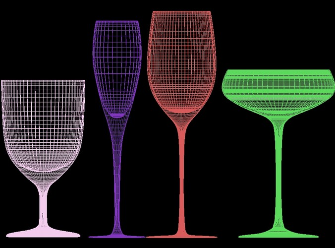 mega glass collection 01 3d model max obj 3ds fbx dxf dwg 10