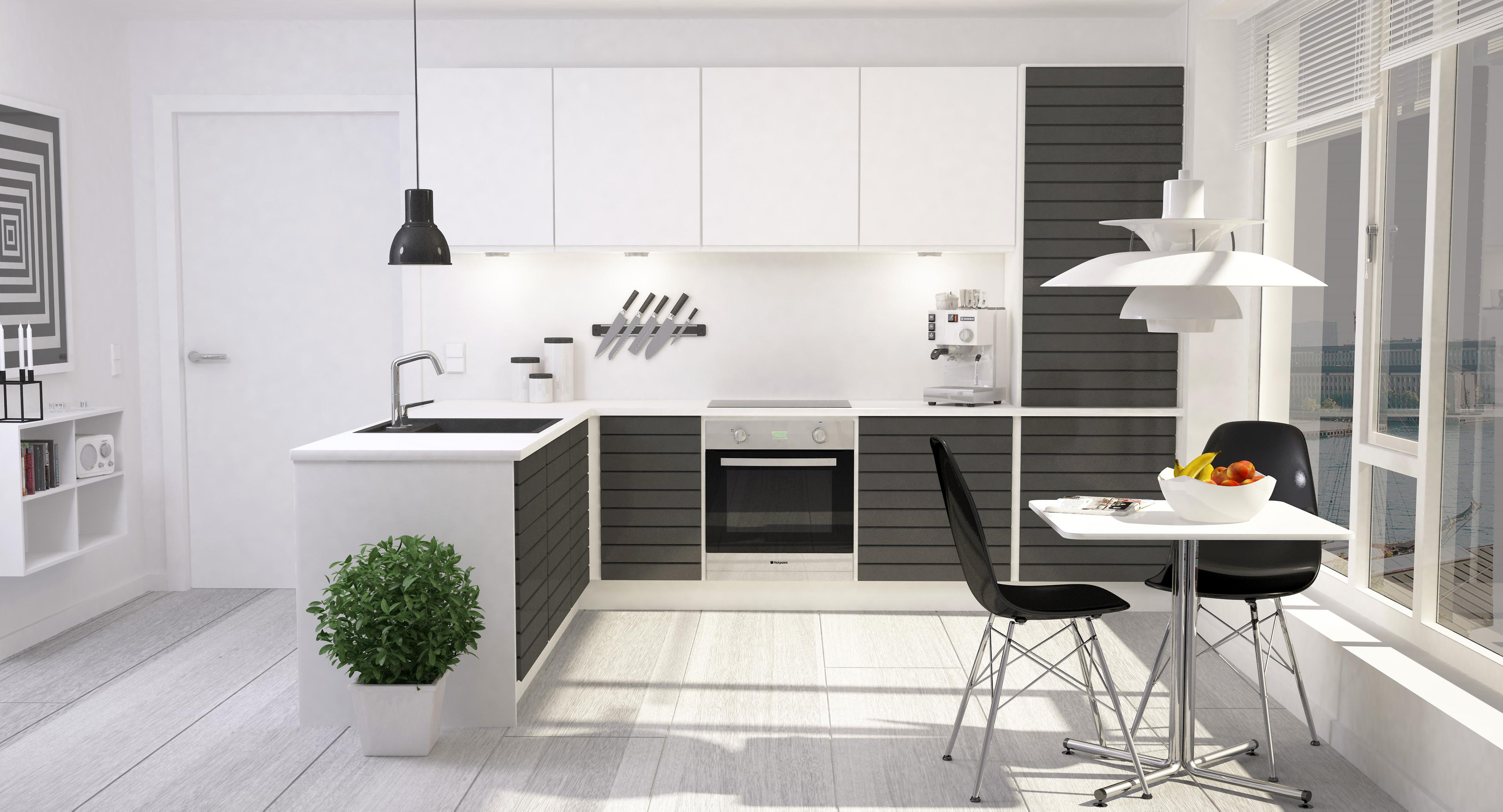 modern kitchen interior 001 3d model max obj fbx dxf
