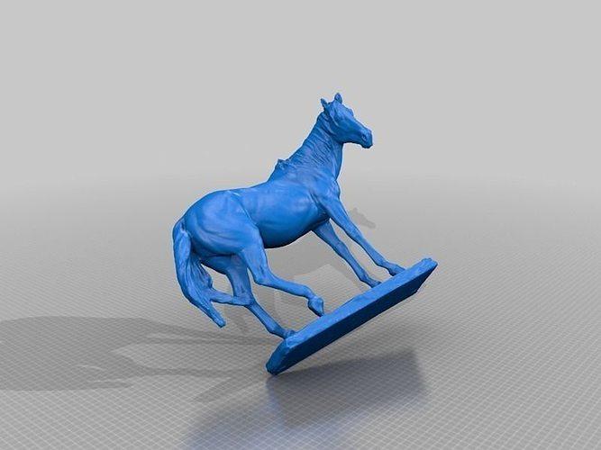 Car Trader Online >> Horse Statue Color 3D Scan   CGTrader