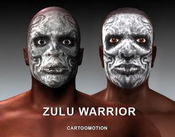 3D asset ZULU WARRIOR