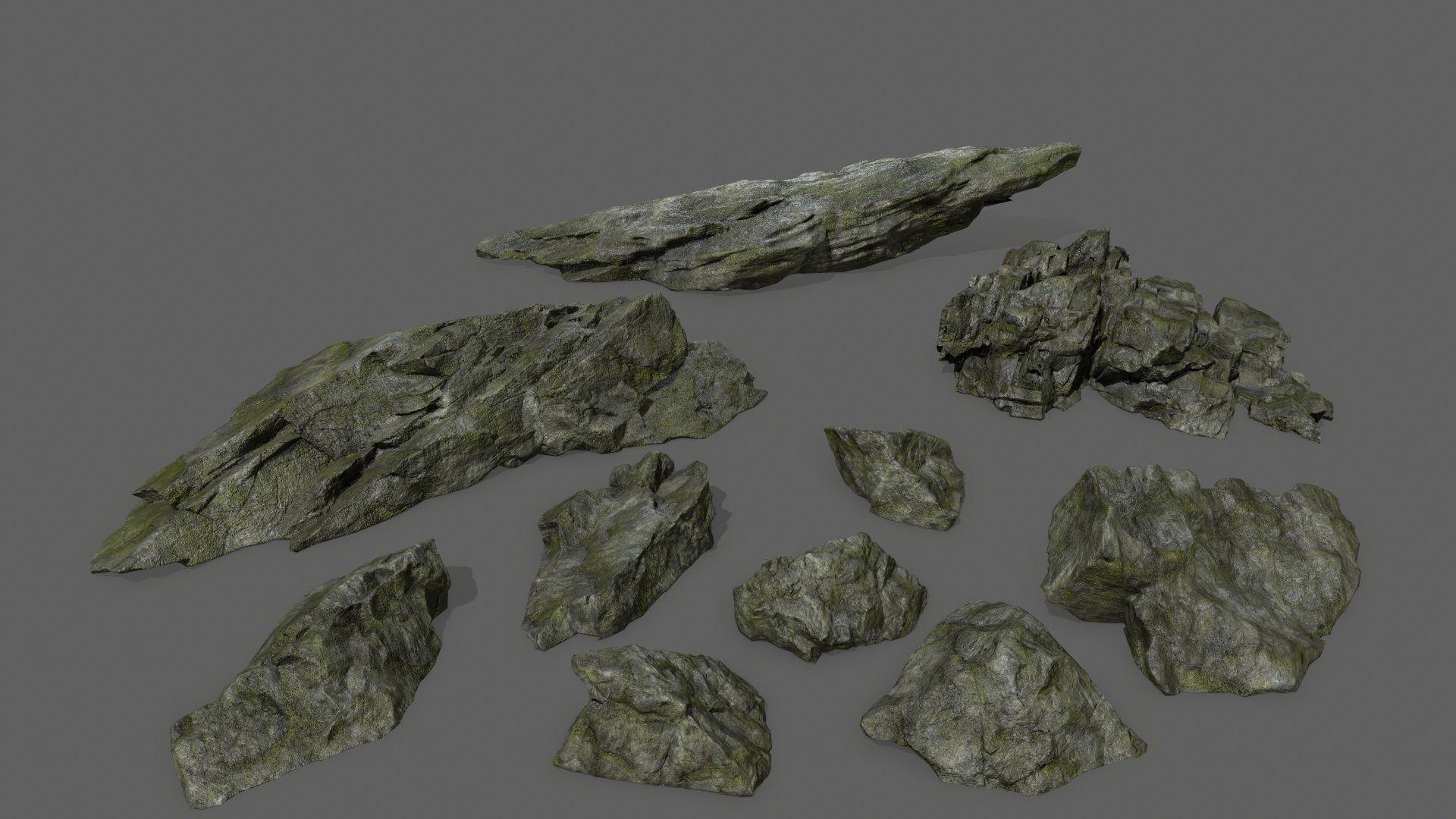 cliff rock set 3