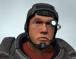 mercenary 3d model rigged animated max