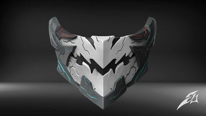 Orbital Frame Custom Mask Fan Art