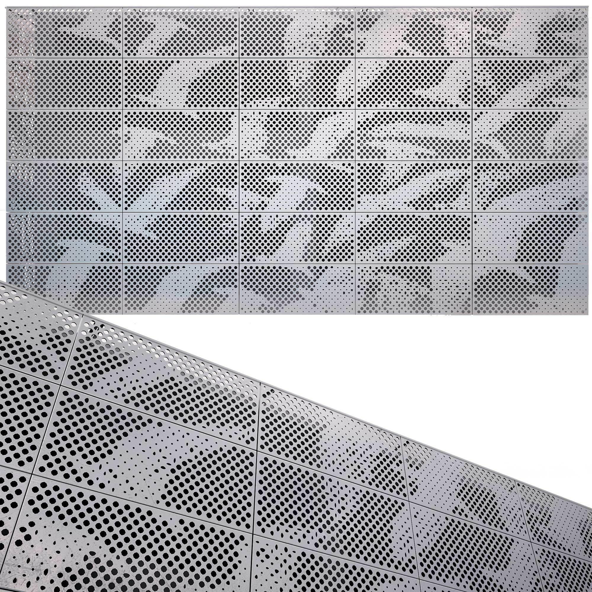 perforated metal panel N14 3D model