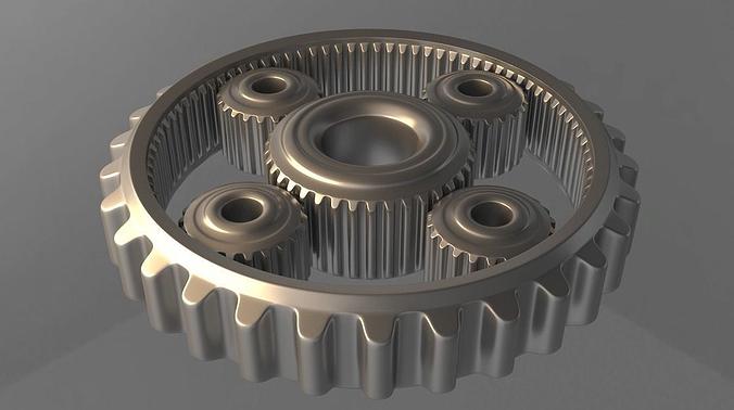 gears 3d model animated max obj mtl fbx stl dwg 1