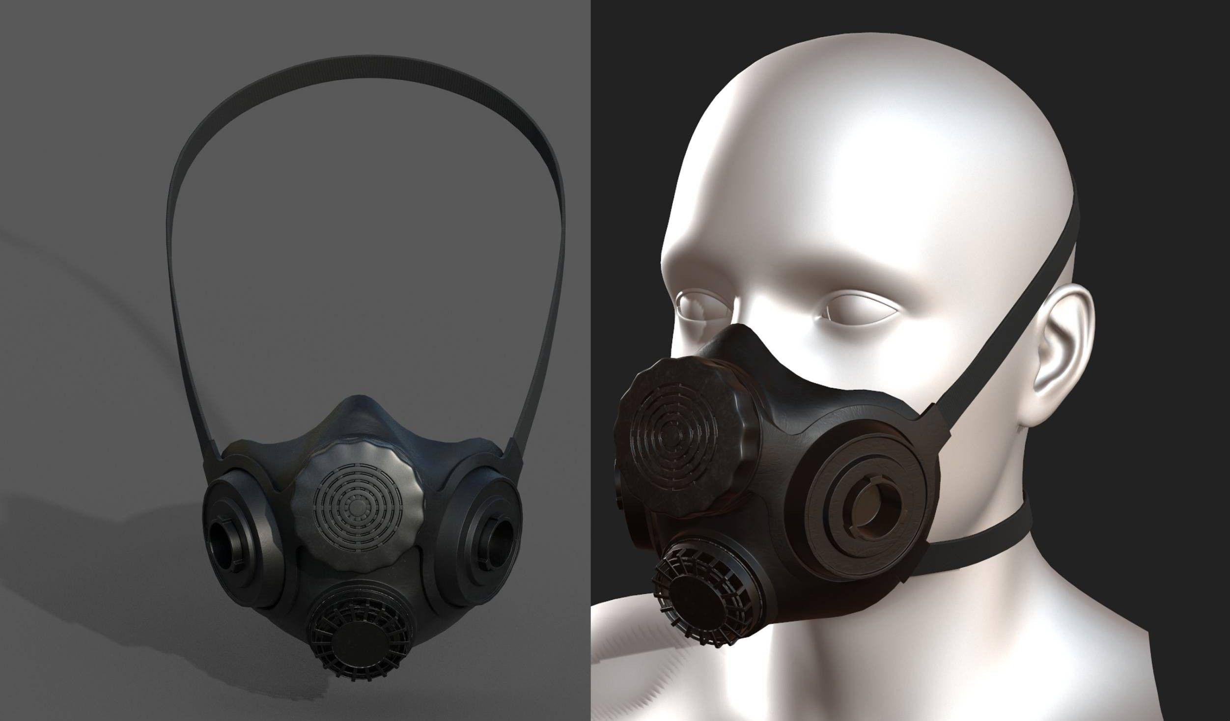 Gas mask helmet 3d safety isolated military combat