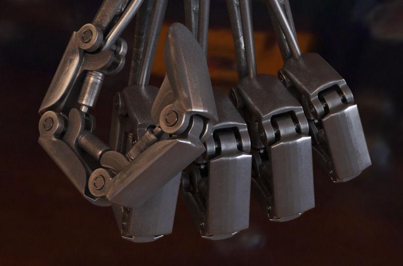 3d metal hand cgtrader