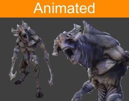 Character Monster with peaks 3D Model