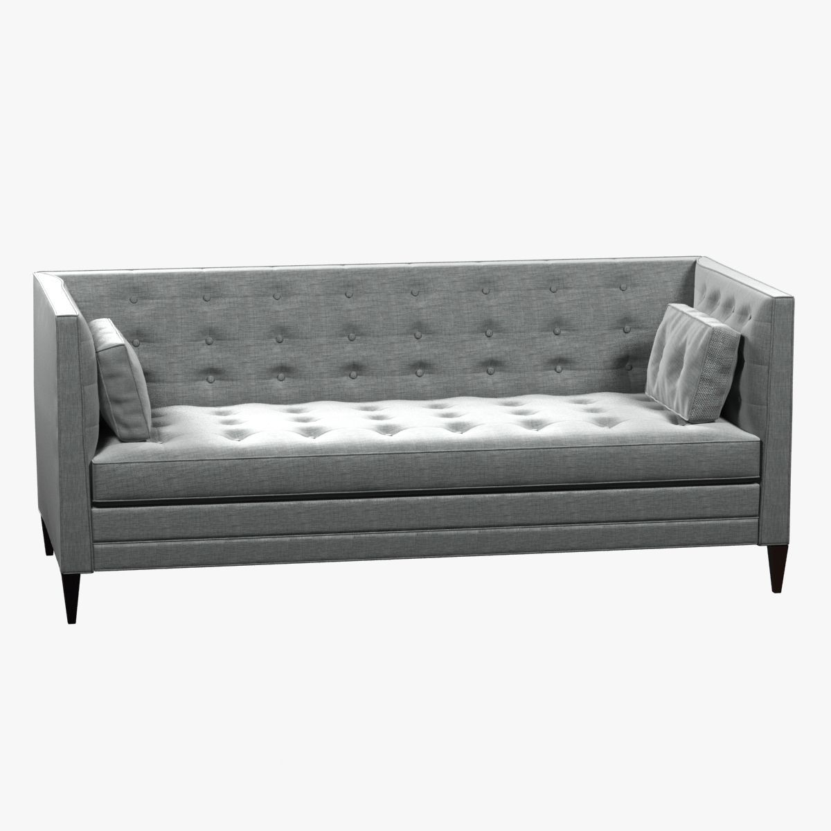 Clancy Tufted Upholstered Sofa In Vangogh Fog 3d Model Max Obj 3ds Fbx Mtl