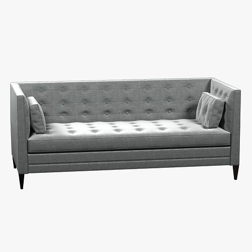 Clancy Tufted Upholstered Sofa In Vangogh Fog Model Max Obj Mtl S Fbx