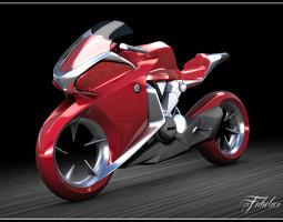 honda v4 concept mat 3d model