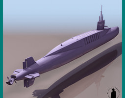 FRENCH NUCLEAR SUB LE R... 3D Model