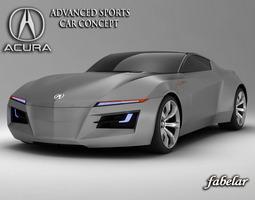acura advanced sports concept 3d model