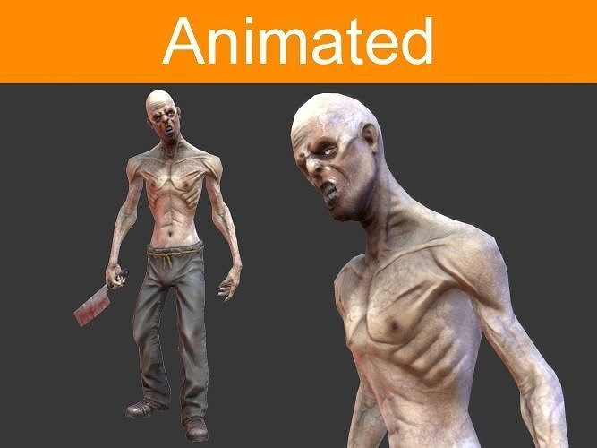 Car Models List >> Character Zombie 3D asset | CGTrader