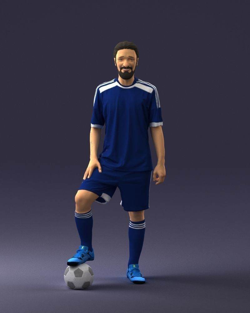 Soccer player 0046 3D Print Ready