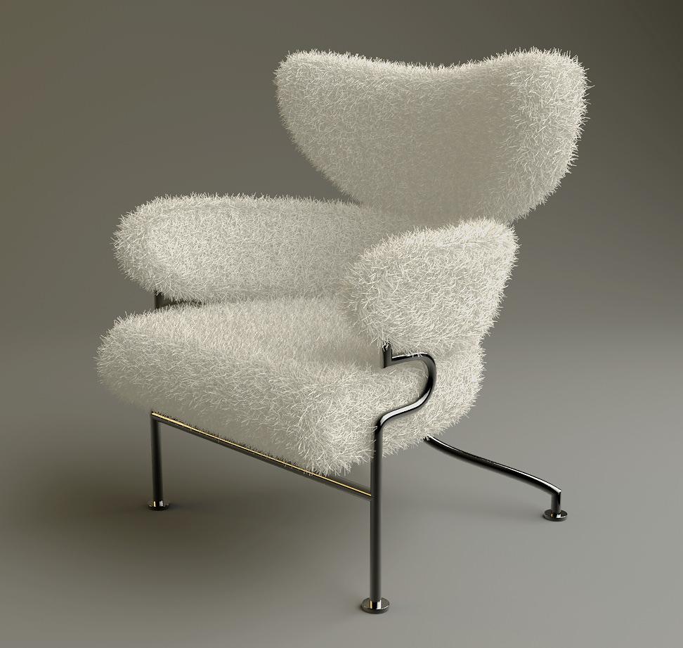 Superieur Furry Chair 3d Model Max Obj 3ds Fbx 1 ...