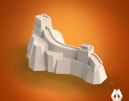 Great Wall of China sculpture 3D Model