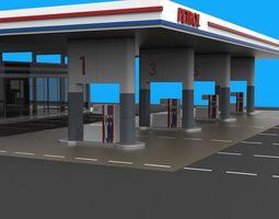 Gas station gasoline 3D model