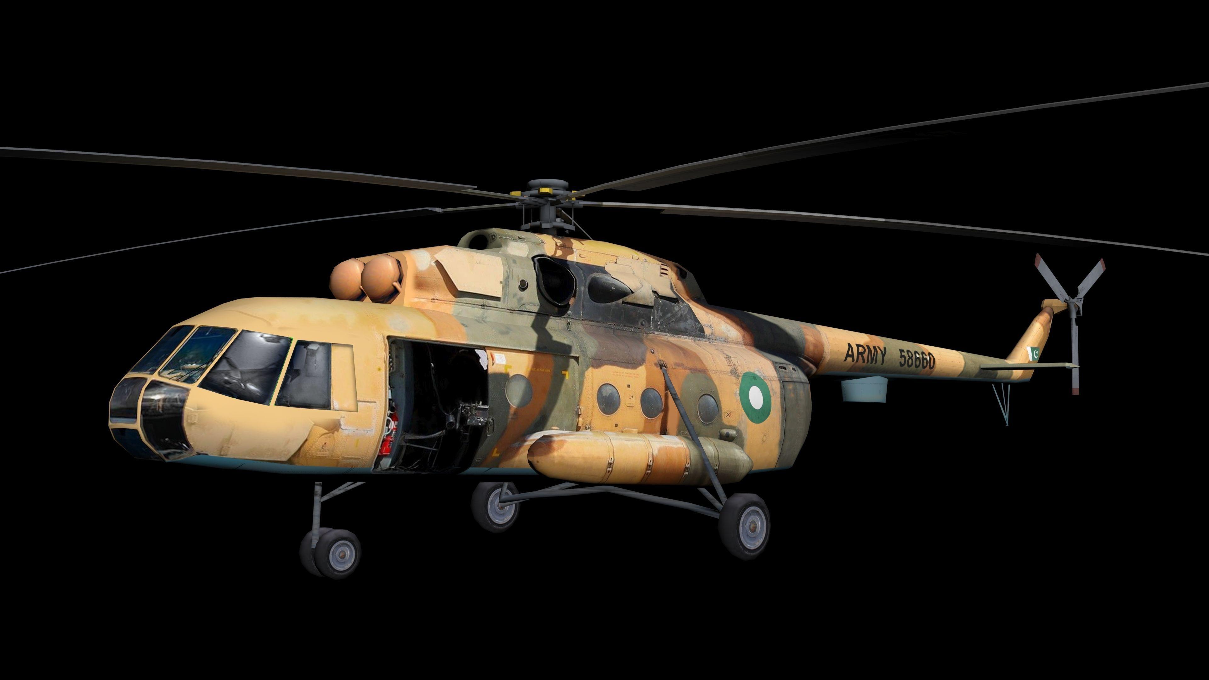 Low Polygon Mi-17