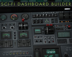 3D model Sci-Fi Dashboard Builder