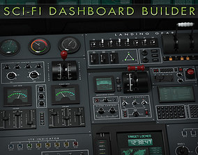 3D Sci-Fi Dashboard Builder