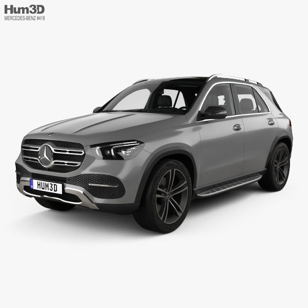 3D Model Mercedes-Benz GLE-class With HQ Interior 2019