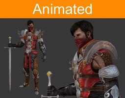 character warrior 3d asset animated realtime