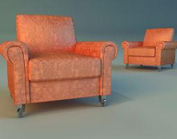3D model Chair velor on wheels
