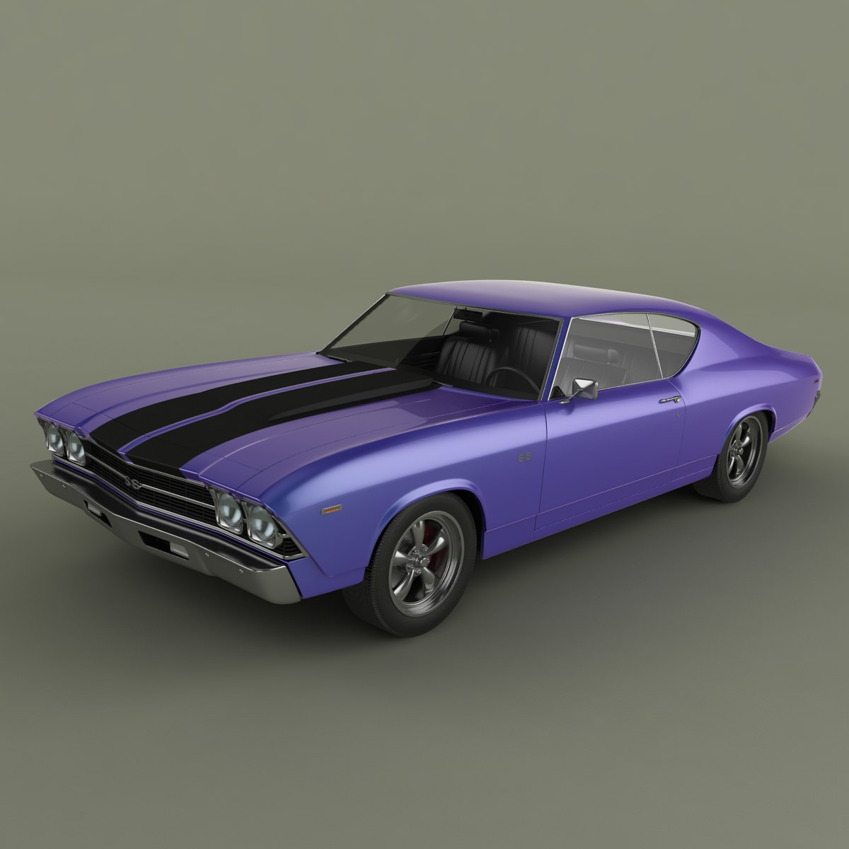3D Chevrolet Chevelle 1969 | CGTrader