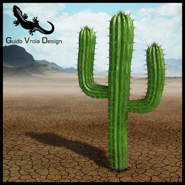 saguaro cactus 3d model  obj  3ds  fbx  blend