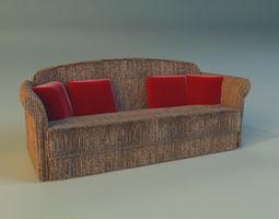 Sofa velvet 3D