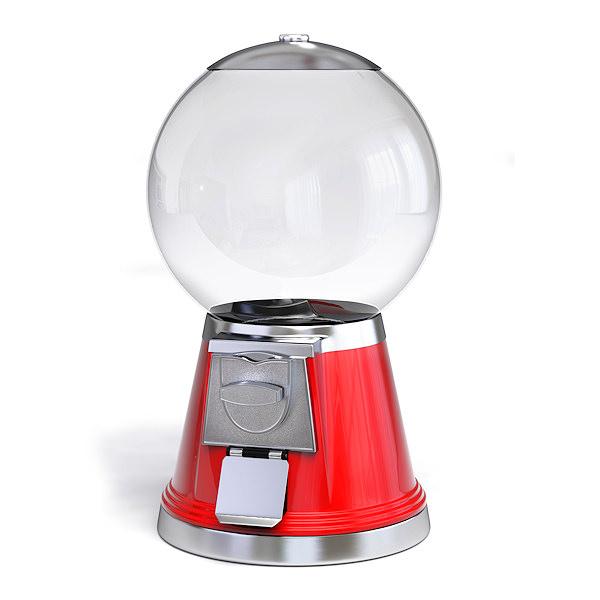Gumball Machine 3d Model Obj 3ds Fbx Blend Cgtrader Com