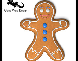 gingerbread man 3d model